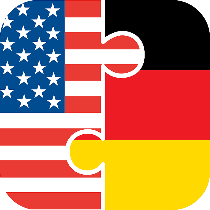 Flaggenpuzzle Deutschland-USA - Copyright